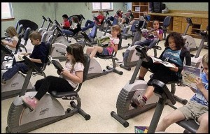 Stationary Bike Desks
