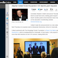 Good News Friday - Steven Colbert's Gift to SC Teachers