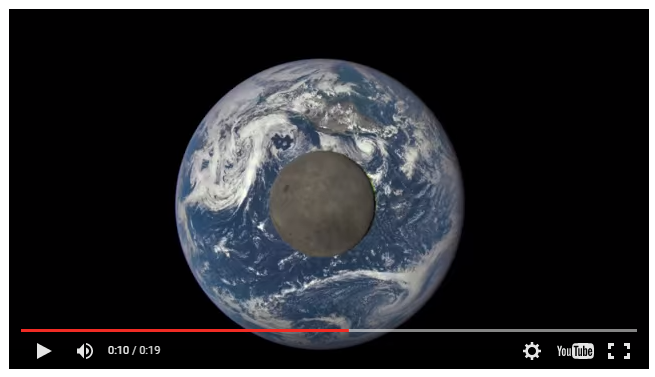 The Moon Passing in Front of the Earth
