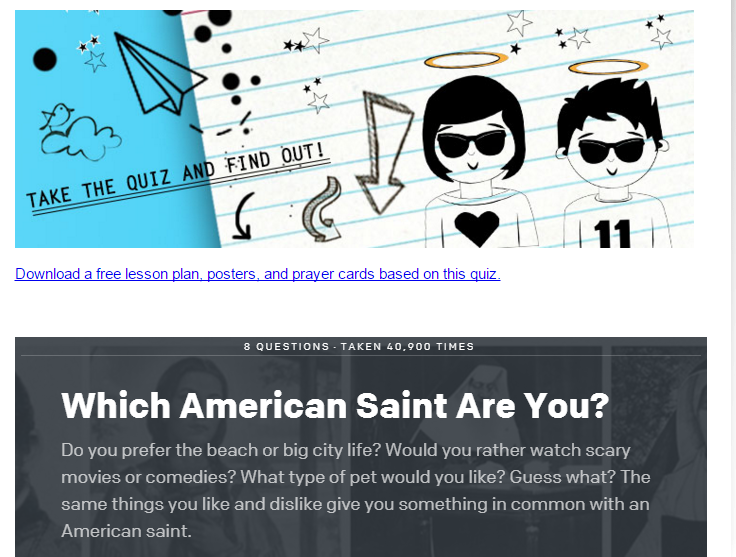 Which American Saint Are You   Loyola Press