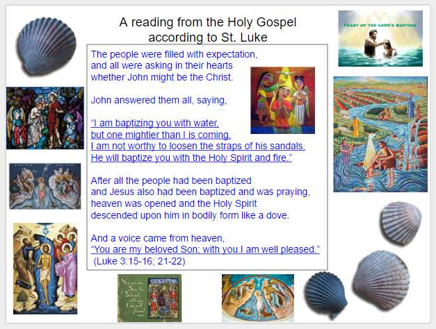 Lectionary Gospel – The Baptism of the Lord – January 10