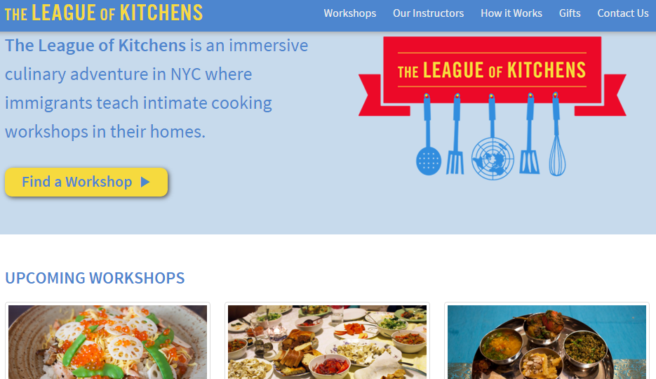 League of Kitchens  Cooking Workshops in NYC