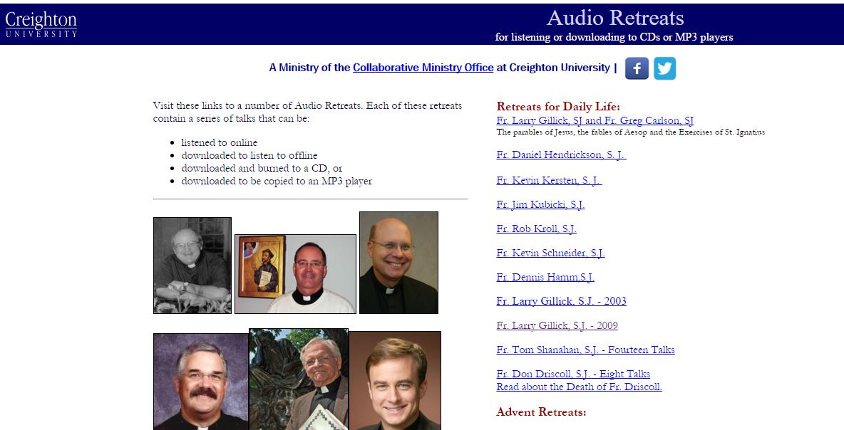 Creighton Audio Retreats