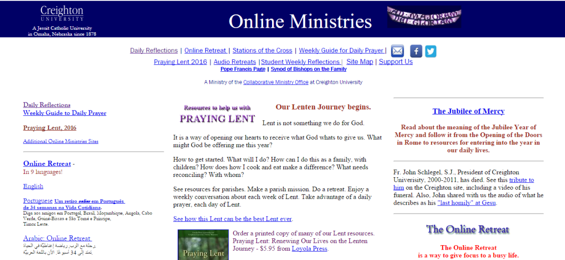 Creighton s Online Ministries Home Page