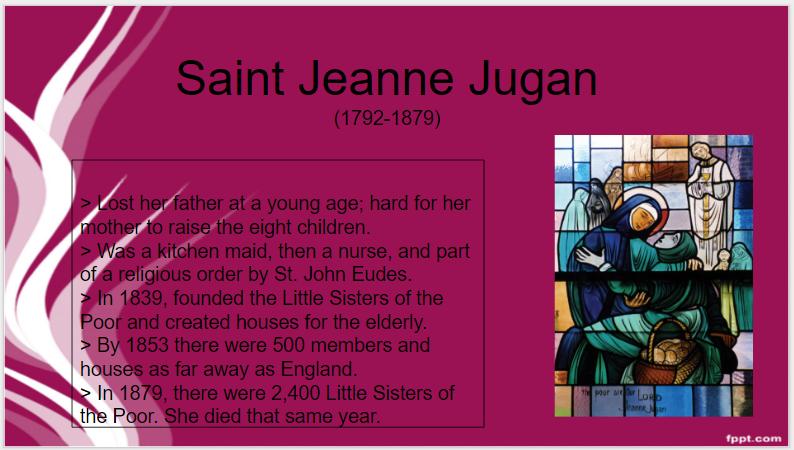 08_30_16_St. Jeanne Jugan_St.O Day