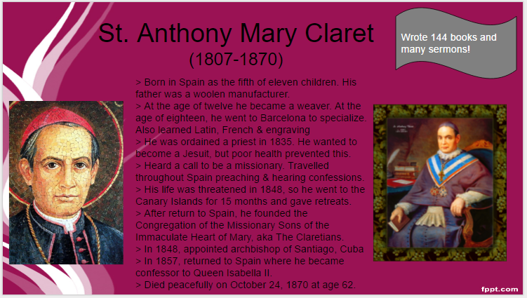 10_24_16_st-anthony-mary-claret_st-o-day