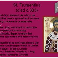 Saint O'the Day: St. Frumentius (Oct. 27th)