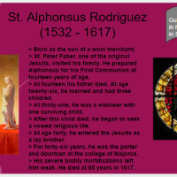Saint O'the Day: St. Alphonsus Rodriguez (Oct. 31st) and All Hallow's Eve Videos