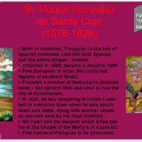 Saint O'the Day: St. Roque Gonzalez de Santa Cruz (Nov. 17th)
